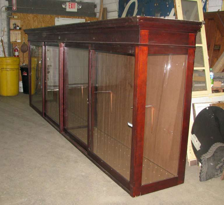 Display Kitchen Cabinets For Sale: Large Mahogany Display Cabinet For Sale At 1stdibs