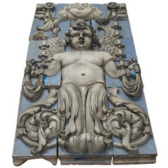 1918 Polychrome Terracotta Cherub Frieze from the Southern Hotel in Baltimore
