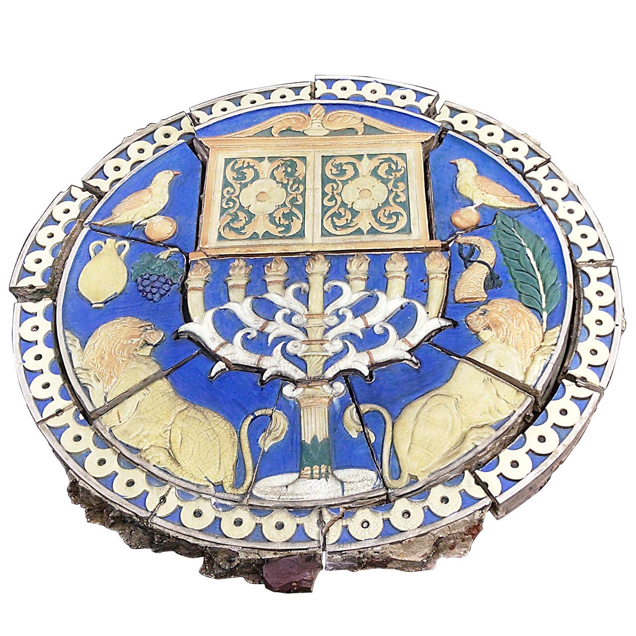 1926 Terra Cotta Judaic Frieze