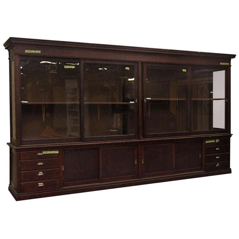 Large Mahogany Display Cabinet For