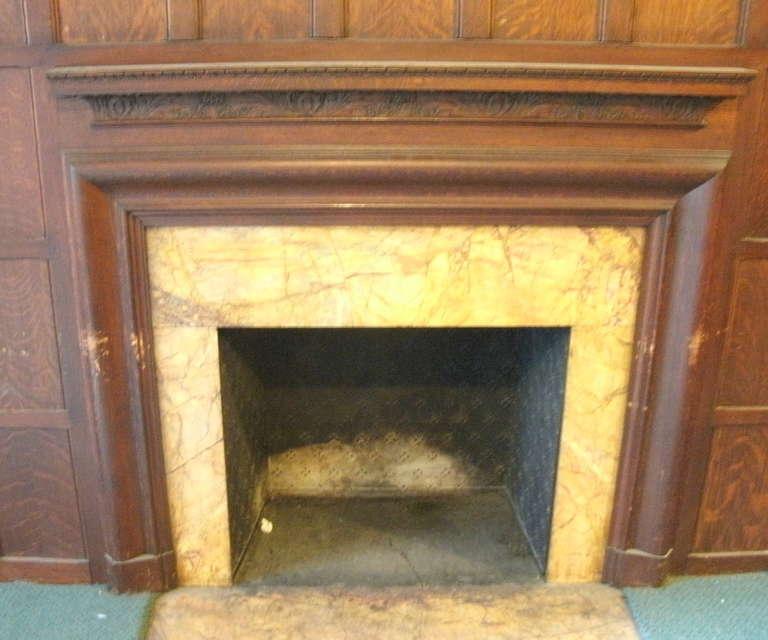 Antique Quartersawn Oak Tudor Style Paneled Room From East