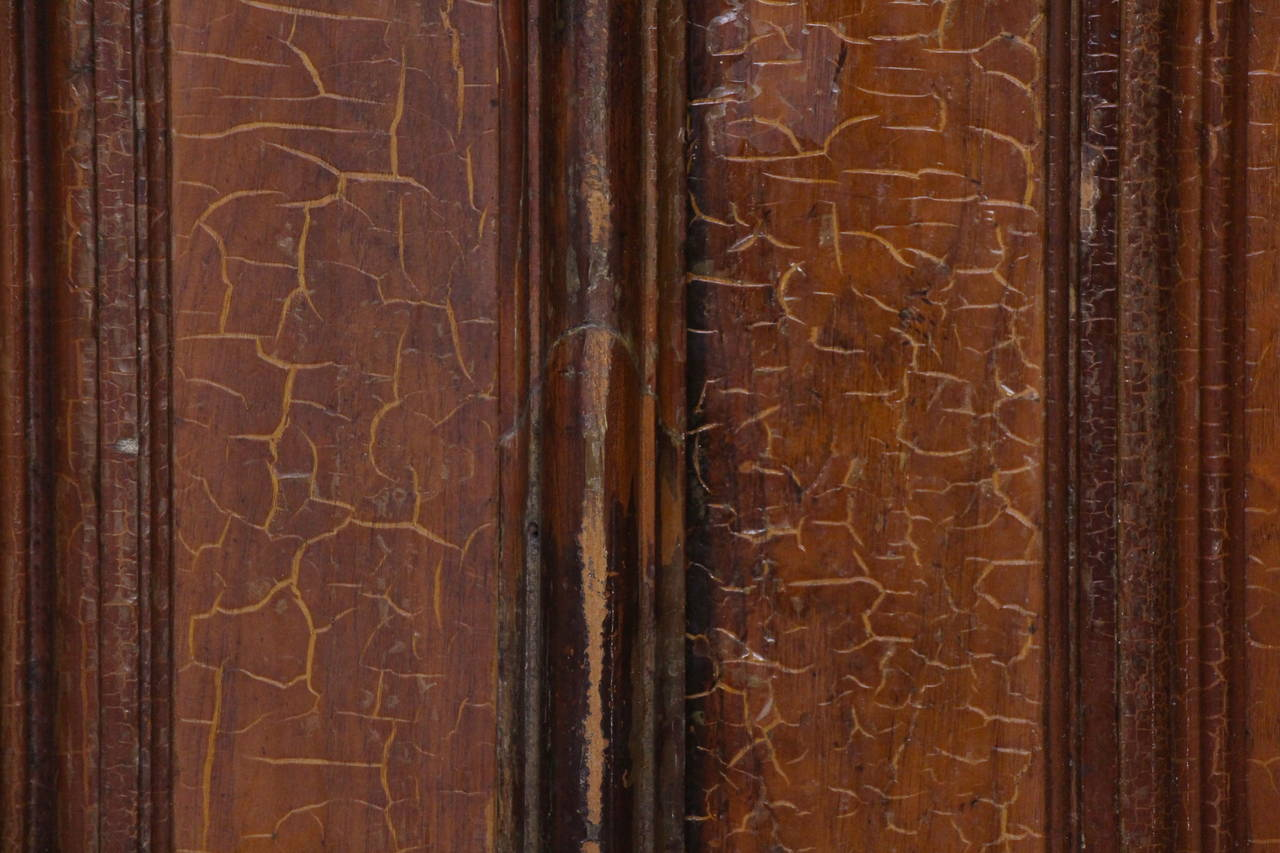 Gothic 1876 Pair of Oversize Raised Panel Arched Entry Double Doors from New Jersey For Sale