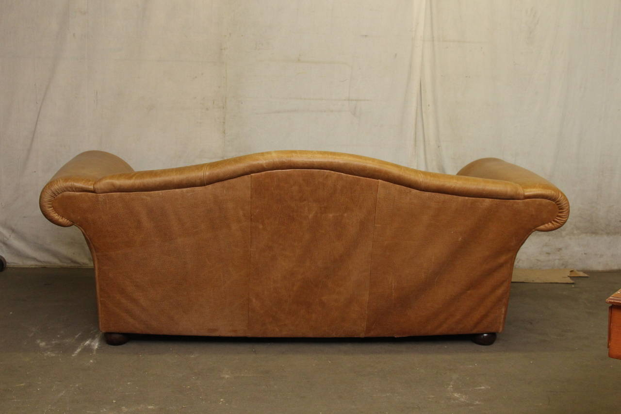Leather Sofa With Down Filled Cushions