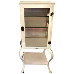White Medical Cabinet with Three Glass Shelves