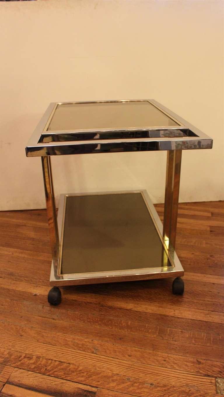1970s mid century modern chrome bar cart by belgo chrome of belgium at 1stdibs. Black Bedroom Furniture Sets. Home Design Ideas