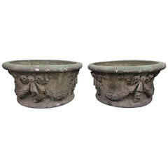 Large Garden Urns Salvaged from New York City