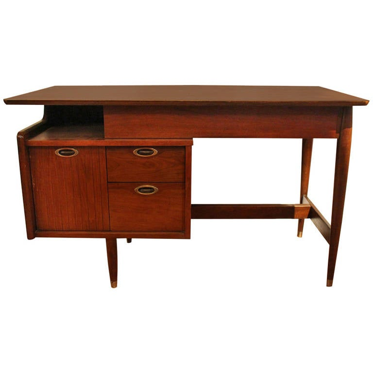 Mid Century Modern Floating Desk By For