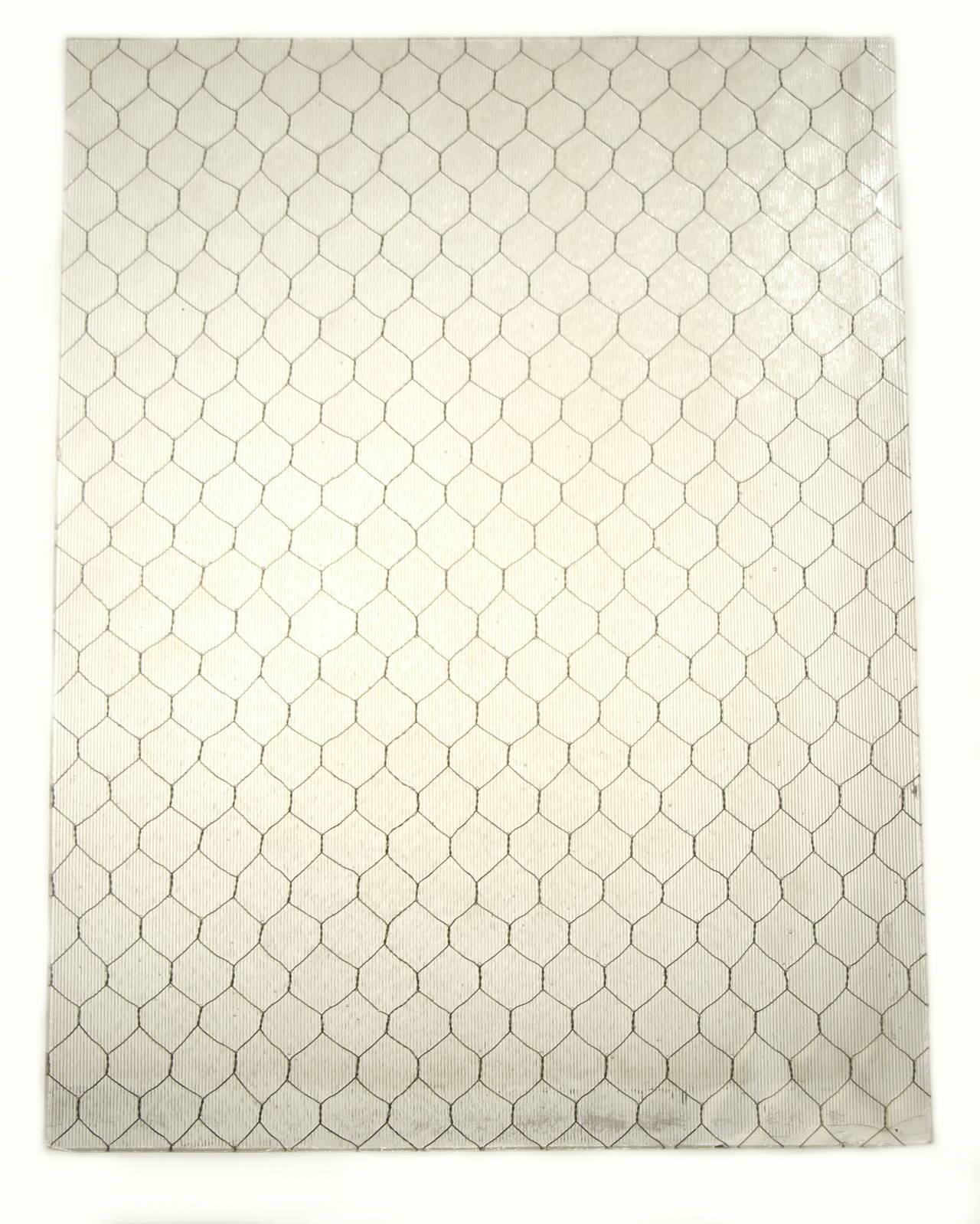1920s Ribbed Textured Vintage Chicken Wire Glass For Sale at 1stdibs