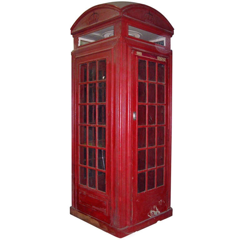 Antique British Telephone Booth At 1stdibs
