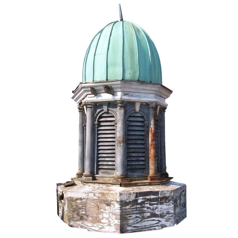 Antique Cupola With Copper Dome And Louvered Sides At 1stdibs