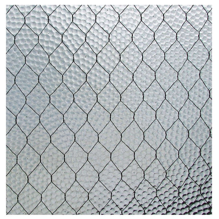 1920s Pebbled Vintage Chicken Wire Glass For Sale At 1stdibs