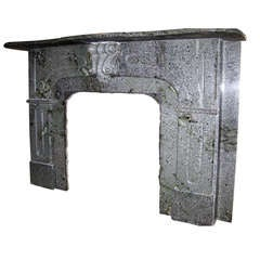 Victorian Late 18th Century Gray Marble Mantel