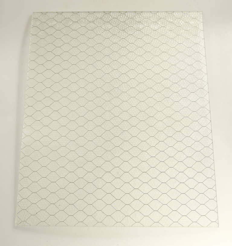 American 1920s 'Pebbled' Vintage Chicken Wire Glass For Sale