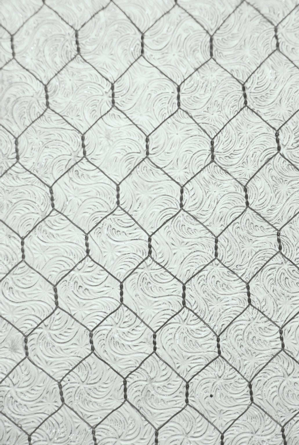 1920s Wormy Vintage Chicken Wire Glass For Sale at 1stdibs