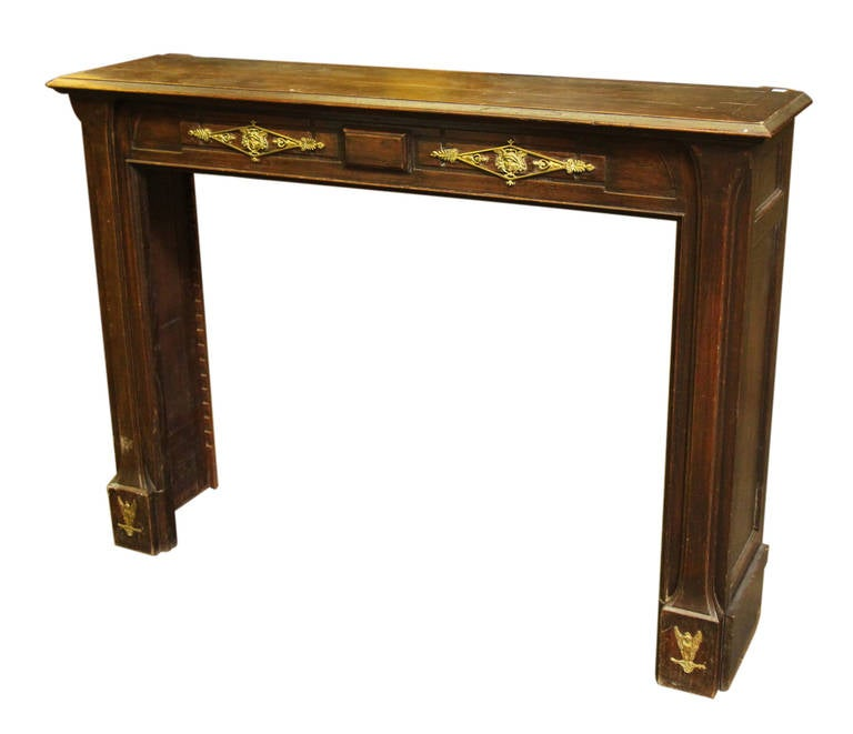 art nouveau carved oak mantel with applique for sale at antique fireplace mantels for sale ontario antique fireplace mantels and surrounds