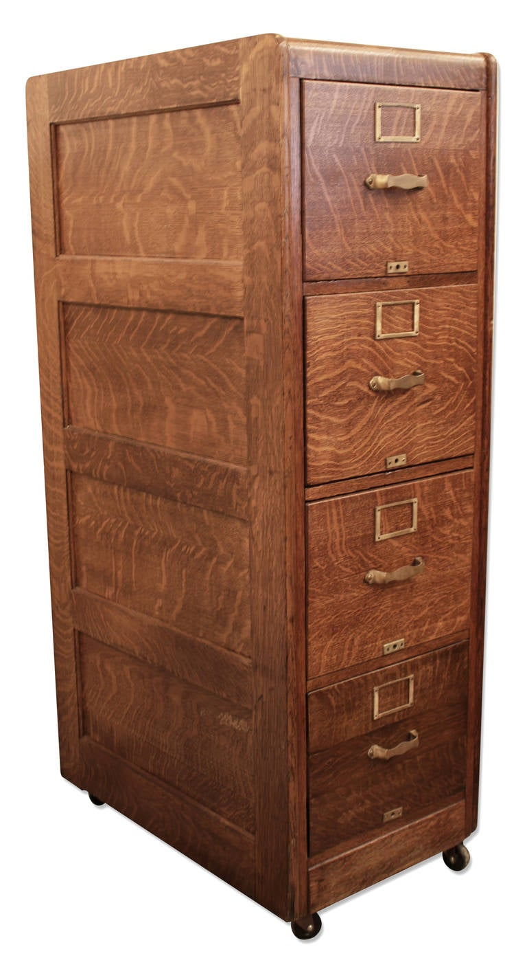 file drawer hardware tiger oak four drawer file cabinet with original hardware 15384