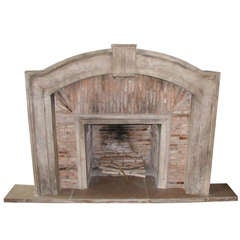Italian Tuscan Travertine Marble Fireplace, 1550