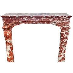 Louis XIV French Rosa Marble Mantel