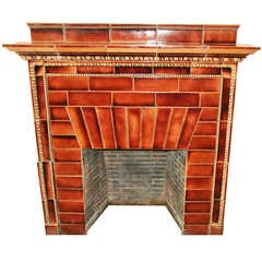 Ceramic Mantel from the Iver Johnson Building, Fitchburg, MA