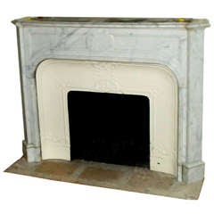 Original Marble Mantel Salvaged from the Plaza Hotel in NYC