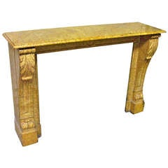 1890s Petite Yellow Marble Mantel from East 75th Street in Manhattan