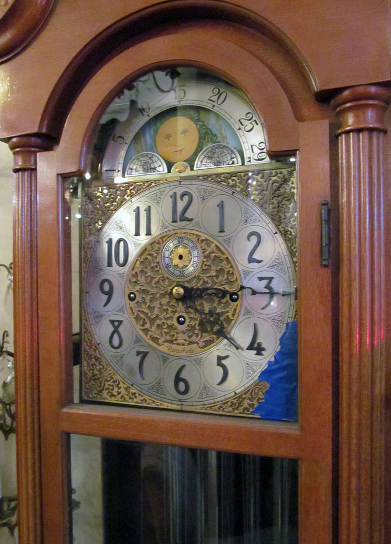1959 Herschede Grandfather Clock With Five Tubes Brass