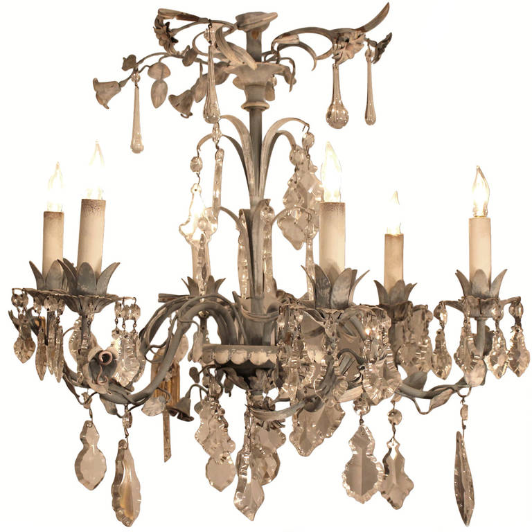 French Wrought Iron Chandelier At 1stdibs