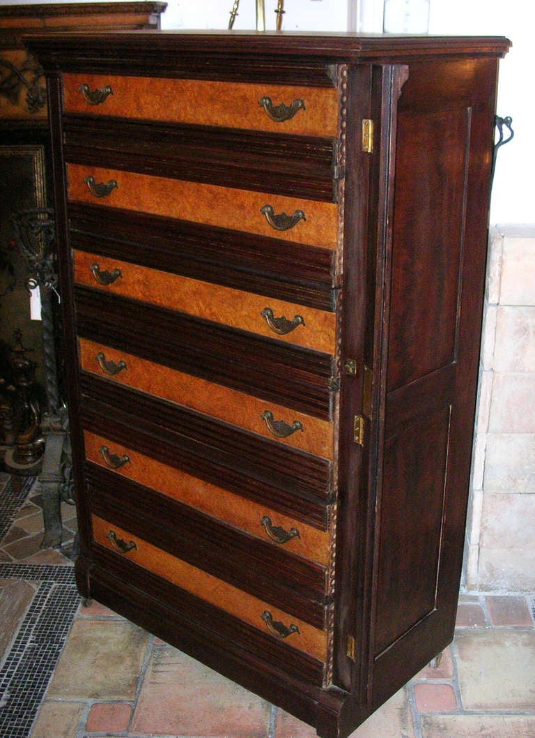 1860s six drawer dresser with side lock at 1stdibs for Storage eastlake