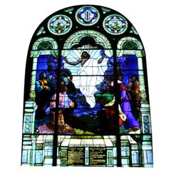 1901 Ascension of Our Lord Jesus Christ Stained Glass Window from a PA Church