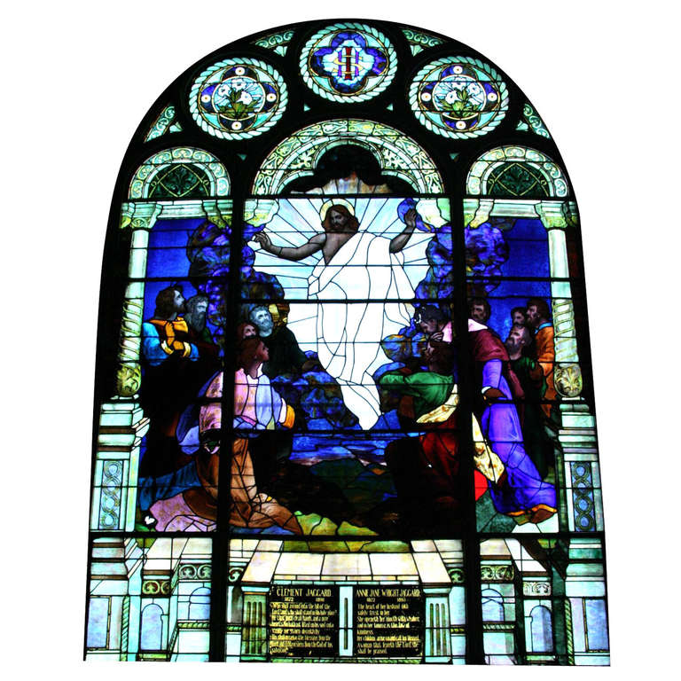 1901 Ascension of Our Lord Stained Glass Window from an Altoona, PA Church