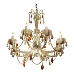 French Regency Eight-Light Crystal Chandelier