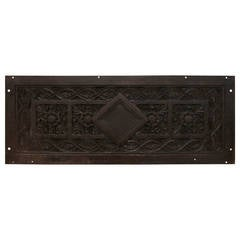 1858 Cast Iron Romanesque Revival Style Plaque from a Prominent NYC Church