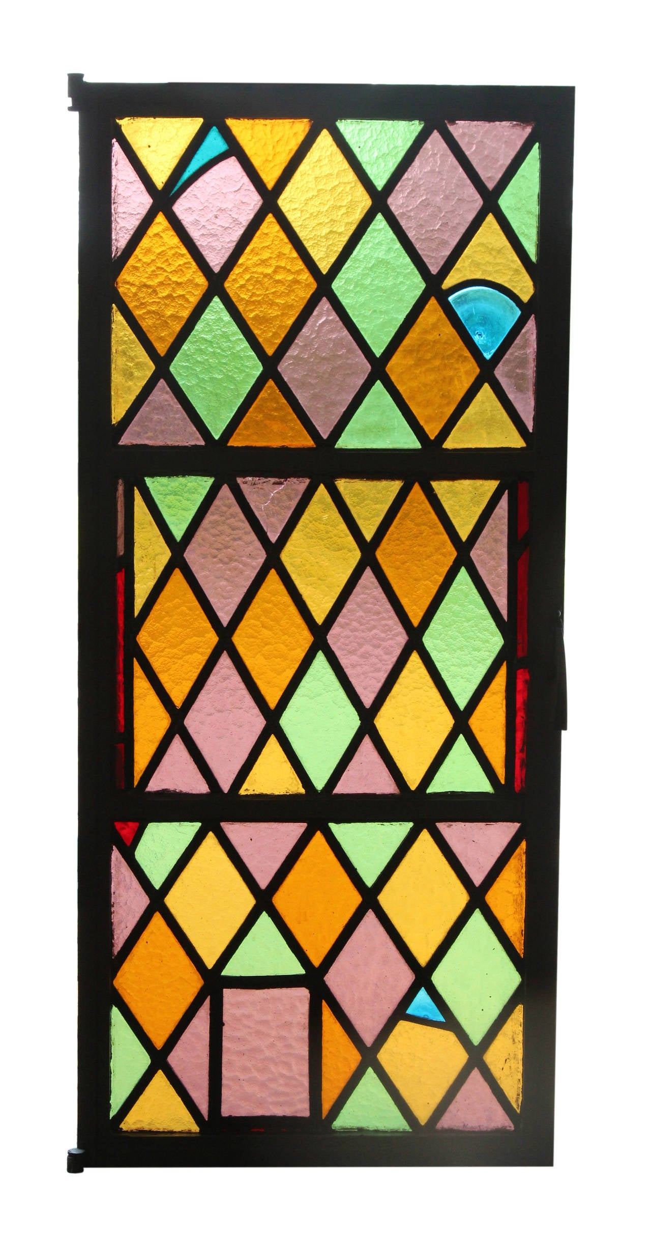 Casement Windows 1920 : S set of eight steel stained glass windows from east