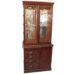 Antique Fine Wood Dental Cabinet