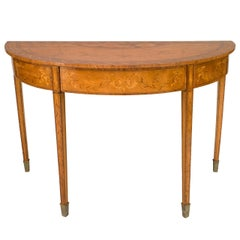 Early 19th c. English Demilune Console Attributed to Charles Elliott