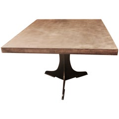 Hot Rolled Steel Top Table with Welded Steel Tripod Pedestal