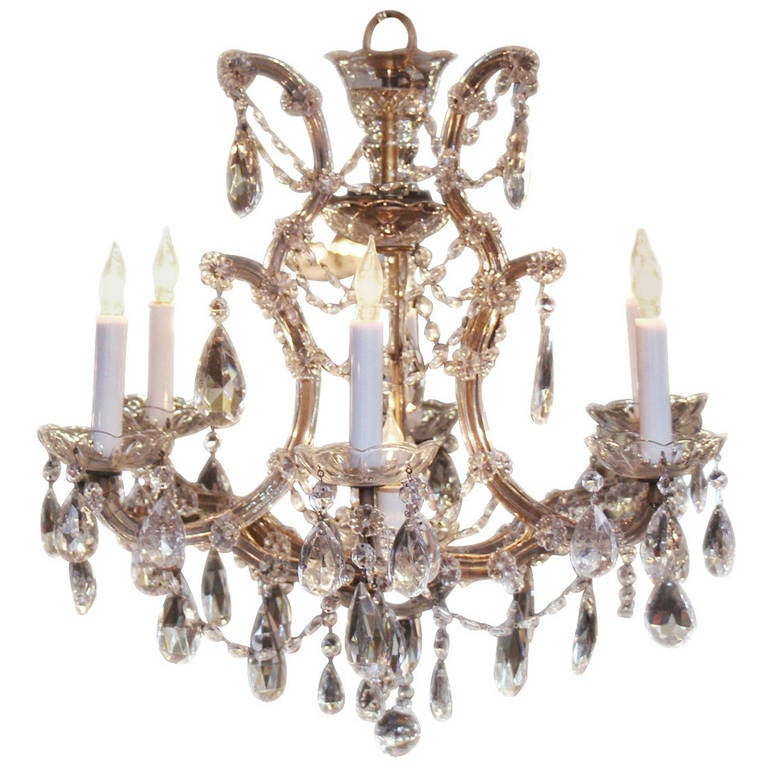 Six arm marie therese chandelier for sale at 1stdibs six arm marie therese chandelier for sale mozeypictures Image collections