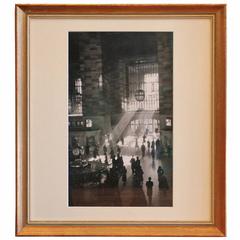 Reprint Photo of Grand Central Station Signed by George Daniell 1
