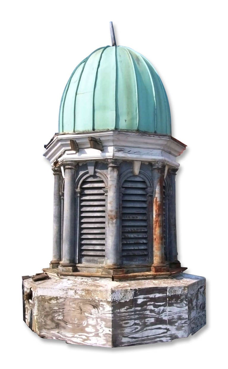 Cupola With Copper Dome And Louvered Sides At 1stdibs