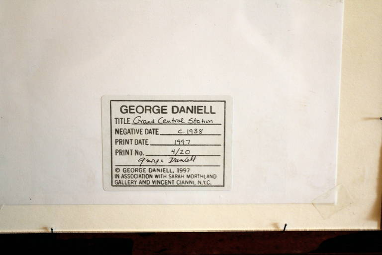 Reprint Photo of Grand Central Station Signed by George Daniell 4