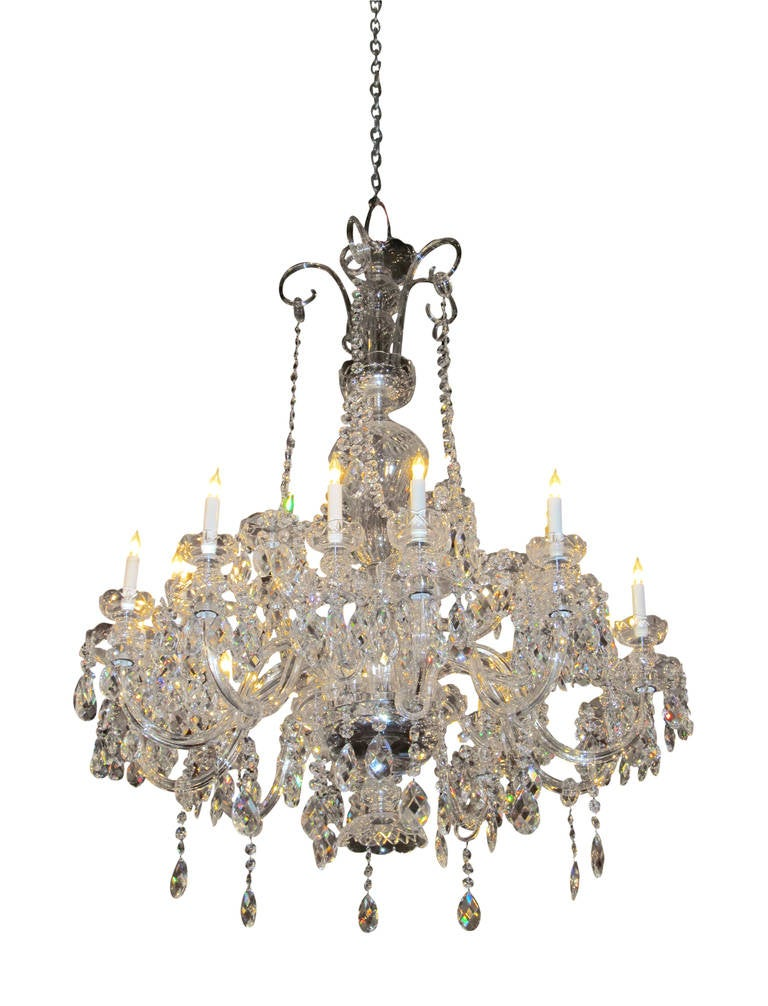 1960s elegant waterford crystal chandelier with 15 lights for sale irish 1960s elegant waterford crystal chandelier with 15 lights for sale aloadofball Image collections