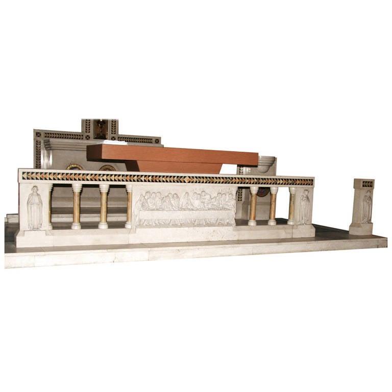 Church Altar Rails For Sale: Hand-Carved Marble Altar Rail For Sale At 1stdibs