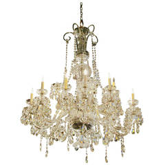 1960s Elegant Waterford Crystal Chandelier with 15 Lights