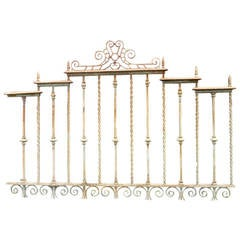 Pair of Heavy Gauge Cast and Wrought Iron Fence Sections