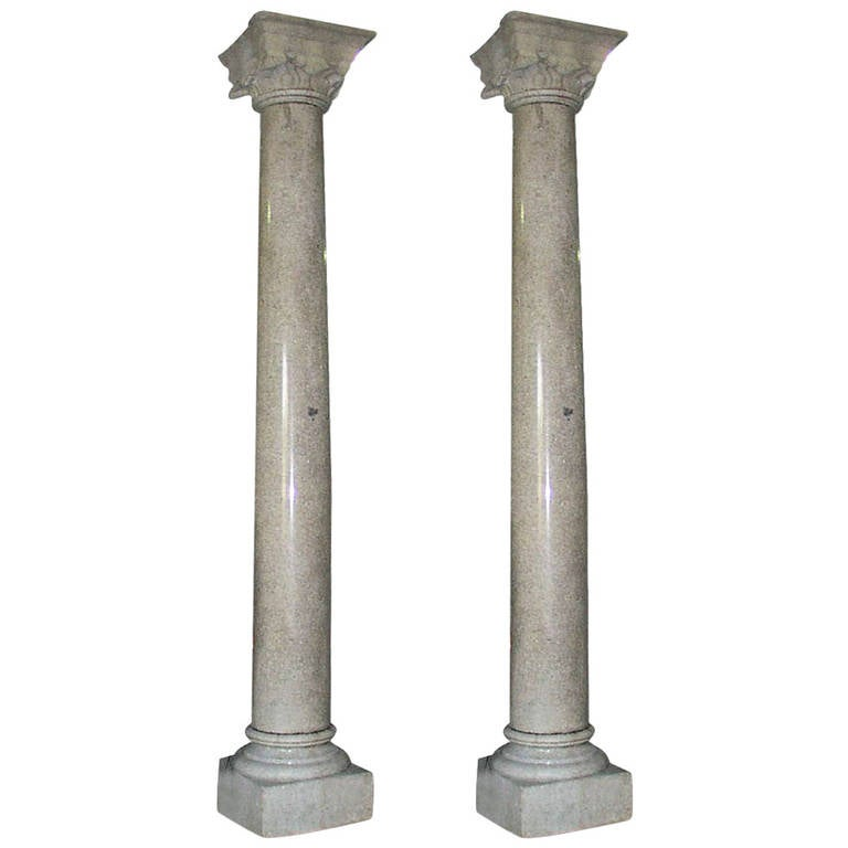 Huge Granite Columns from 30th Street Train Station in Philadelphia For Sale