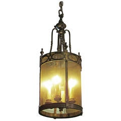 1940s Regency Style Lantern with Old Glass