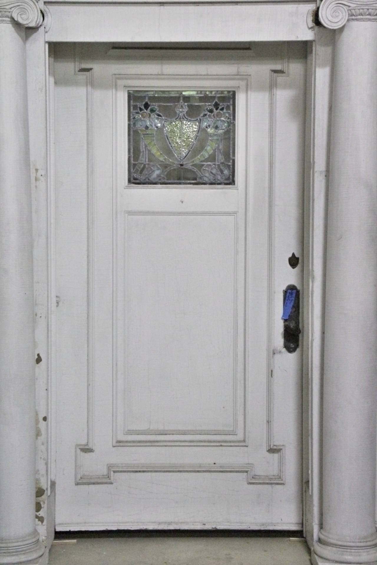 1919 #57534A Early 19th Century Federal Mansion Leaded Glass Door Entry At 1stdibs picture/photo Leaded Glass Exterior Doors 40291280