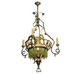 Large 19th Century Art Nouveau Chandelier