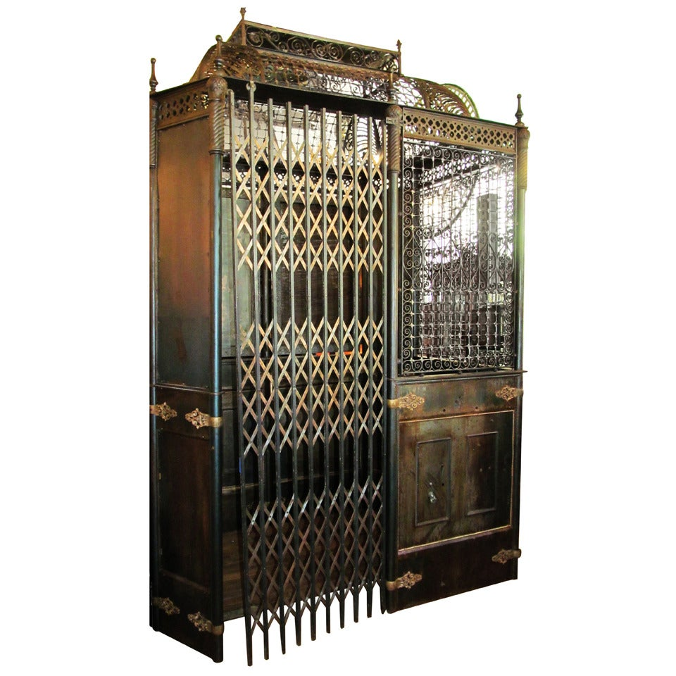 Antique otis birdcage elevator with original hardware Elevators for sale