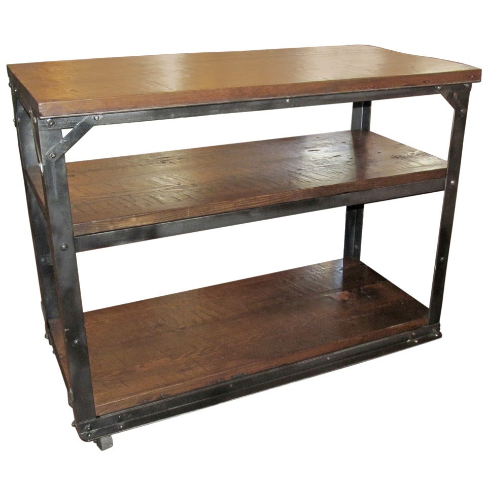 reclaimed industrial kitchen island at 1stdibs